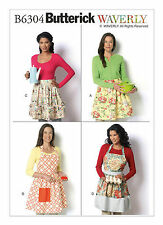 Butterick B6304 Waverly Pattern Misses' Gathered Full and Half-Aprons S-XL BN