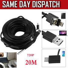 20-Meter 5.5mm Usb Endoscope with 720P Waterproof Camera for Pipe Car Inspection
