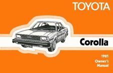 1981 Toyota Corolla Owners Manual User Guide Reference Operator Book Fuses