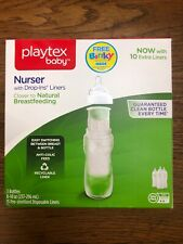 Playtex Bpa Premium Nurser Bottles With Drop in Liners 3 Count Colic Fast Ship