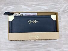 JESSICA SIMPSON Black Gold Wallet with Gift Box Frankie JS13839X