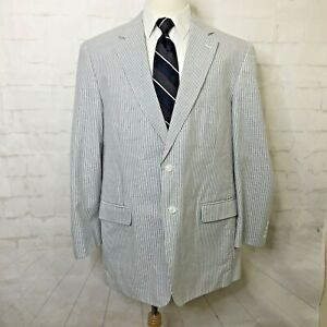 Frank Stella Haspel Cotton Seersucker Sport Coat Blazer 44L