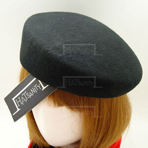VINTAGE Wool Felt Women Pillbox Hat Ladies Cadet Military | Black Green Blue Red