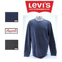 SALE NEW Levi's Men's Button Henley Long Sleeve Soft Shirt VARIETY SZ/CLR - B13