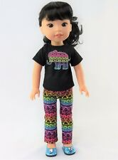 "Tribal Elephant Pant Set Fits Wellie Wishers 14.5"" American Girl Clothes"
