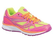 Saucony Girls Lace Sneakers  Citron/Pink/Purple  Youth Size 5 1/2 M
