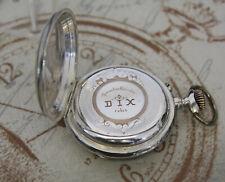 Schöne antike Taschenuhr massiv Silber Remontoir Cylindre DIX Rubi pocket watch