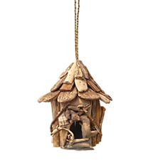 Vie Naturals Bird House, Driftwood, round ,Approximately 30cm Hanging Height