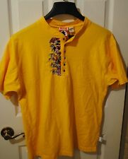 Yellow Disney Mickey Mouse Inc. since 1928 Large Button T-shirt