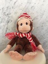 Gund Curious George stuffed animal w/hat and scarf