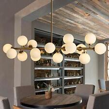 G4 Led Round Glass D-NA Bronze Chandelier Pendant Lamps Ceiling Fixture 16-Light