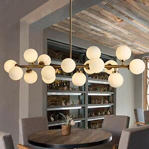G4 Led Round Glass DNA  Bronze Chandelier Pendant Lamps Ceiling Fixture 16-Light