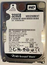 "Western Digital Scorpio Black 320GB Internal 7200RPM 2.5"" (WD3200BEKT) HDD"