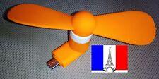 Ventilateur mini FAN téléphone micro-usb android smartphone orange FR x1