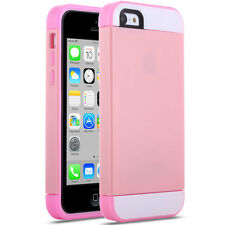 For Apple iPhone 5C Shockproof 3in1 PC TPU Rugged Rubber Case Cover Pink