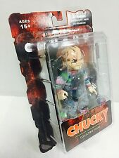 "CHILD'S PLAY CHUCKY 5"" inch ACTION FIGURE w/ KNIFE & GUN ACCESSORY MEZCO TOYZ"