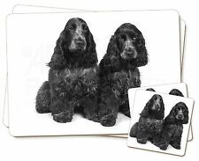 Blue Roan Cocker Spaniel Dogs Twin 2x Placemats+2x Coasters Set in Gif, AD-SC1PC