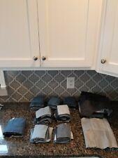 Huge Lot 9 lbs+ of Vtg Denim Blue Jean Scraps Squares Quilt Fabric Blocks Sewing
