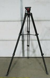 Manfrotto MVT502AM Aluminum Video Camera Tripod w/ MVH500A Fluid Drag Video Head