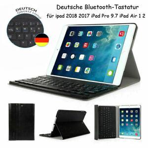 """DEUTSCHE Tastatur Für iPad 2018/2017 9.7""""Air 1 2 QWERTZ Bluetooth Keyboard Hülle"""