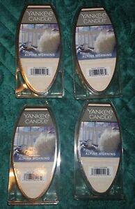 LOT of 4 Yankee ALPINE MORNING Candle Fragrance Wax Melts NEW