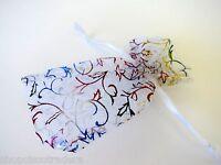 *THREE BAGS* Drawstring Organza Wedding Jewelry Pouch 3x4.5inch QTY3 A052-1