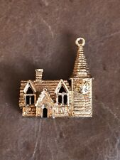 Beautiful Old Church Charm 9ct Rose Gold Stunning