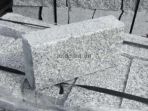 Granit Randsteine Bord Kante Sichtschutz Garten Mauer 4-fach gesägt Naturstein