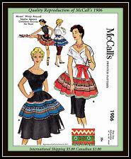 SQUAW APRON WRAP AROUND McCall'S 1906 CRAFT Fabric Sew Pattern Vintage 1950's