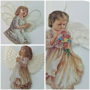 """Heavens Little Angels"" Hanging Decoration Ceramic precious devotion Angel"