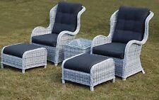 Rattan Weave Garden Furniture California Lounge Chair Set Outdoor Rattan