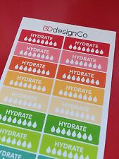 28 Hydrate Drink Water Stickers for All Types of Planners (#143)