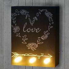 LED-Bulb Bild mit Beleuchtung Leuchtbild, Wandbild 25x20cm, Love
