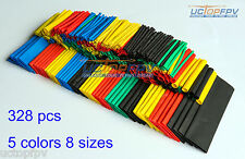 328 Pcs 8 Sizes 5 Color Polyolefin 2:1 Halogen-Free Heat Shrink Tubing DJI FPV