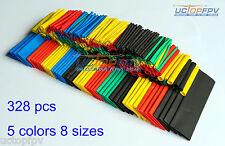 328 Pcs 8 Sizes 5 Color Polyolefin 2:1 Halogen-Free Heat Shrink Tubing DJI FPV