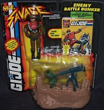 Hasbro GI JOE SGT Savage Enemy Battle Bunker Action Figure! (1994) + Comic Book