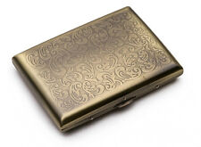 Vintage Retro Slim Copper Paisley Flower Floral Wiredrawing Cigarette Case Box