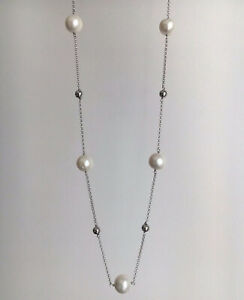 Sterling Silver chain and Pearl Necklace  BRAND NEW