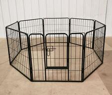 6 / 8 Panel Dog Pen Puppy Rabbit Run Cage Playpen Fence Enclosure Indoor Outdoor