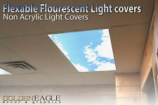 Fluorescent Light Cover Diffuser Sky & Cloud Dentist Office Classroom Home 1