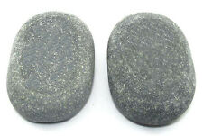 HOT STONE MASSAGE: Pair of XL Sacrum/Belly Basalt Stones 11 x 7 x 3cm