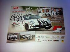 CP POSTCARD CARTOLINA PORSCHE 911 GT3 ZELTNER RALLY RALLYE WRC 2011