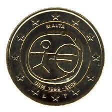 MALTA - 2 Euro 2009 - 10 Jahre WWU - vergoldet (12344/720N)