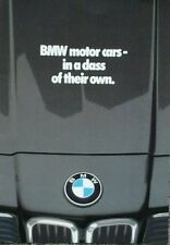 BMW All Model range brochure - February 1980 inc M1, 633CSi, 635CSi  E21 323i