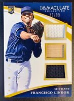 2015 Panini Immaculate FRANCISCO LINDOR Rookie Triple Jersey Patch Relic SP /99
