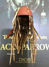 Hot Toys DX06 Pirates of Caribbean Jack Sparrow 1/6 Scale Head Hair Sculpt
