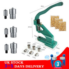 Hand Press Eyelet Hole Punch Machine Tabletop Tool 3 Dies 900 Grommets Kits