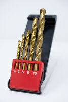 Presto 5pce 4-10mm HSS TiN Coated Jobber Drill Set