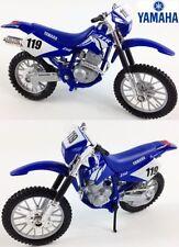 Motocicleta de automodelismo y aeromodelismo color principal azul de plástico