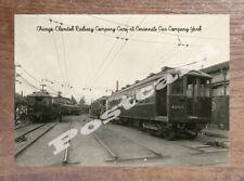 Historic Chicago Elevated Railway Company Yard Transport Postcard